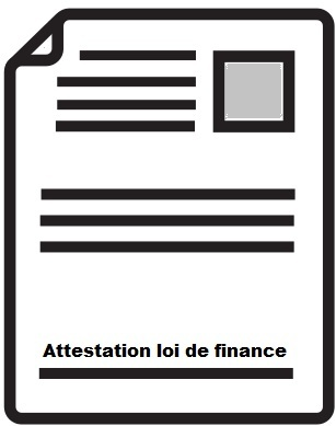 attestation loi de finance