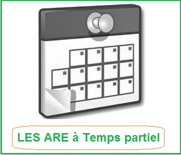 ARE et temps partiel mi temps